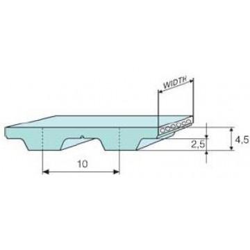 Ремень Т-10 полиуретановый (шаг 10 мм) зубчатый