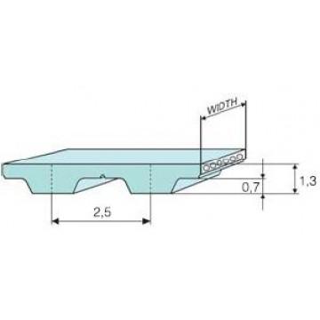 Ремень Т 2,5 полиуретановый (шаг 2,5 мм) зубчатый
