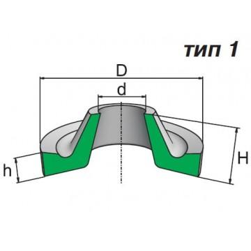 Грязесъемники резиновые для штоков ГОСТ 24811-81