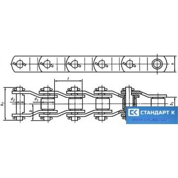 Цепи Приводные втулочные с изогнутыми пластинами ГОСТ 13568-97