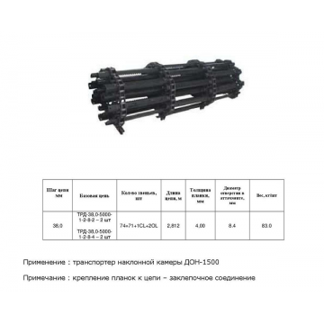 Цепь ТПК ДОН (4) транспортер (s=4) (БАДМ)
