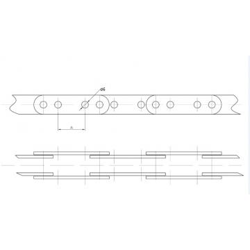 Цепи Тяговые пластинчатые ГОСТ 588-81 Присоеденительные элементы Тип 2-2.