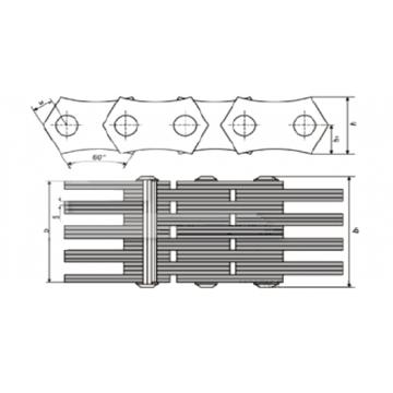 Цепи Приводные зубчатые ГОСТ 13552-81 Тип 2 (с двухсторонним зацеплением)