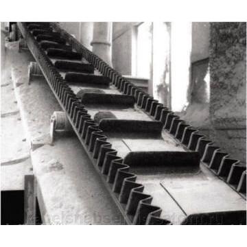 Ленты транспортерные с гофробортами, ковшами и рифлями